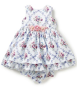 Laura Ashley London Baby Girls Newborn-24 Months Floral-Print Applique Dress