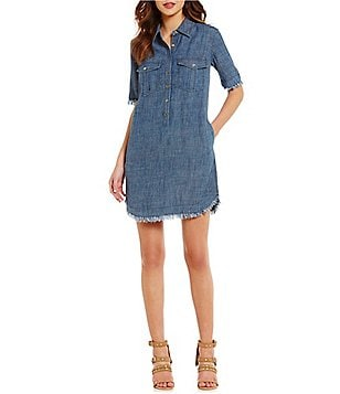 Trina Turk Rosetta Chambray Shirt Dress
