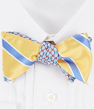 Brooks Brothers Reversible Bold Stripe and Raft Silk Bow Tie