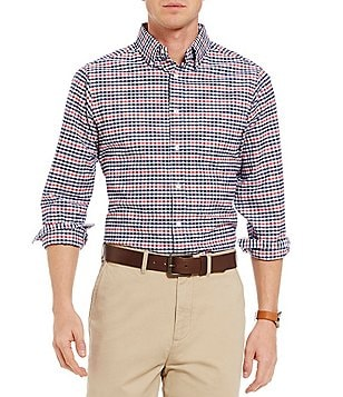 Cremieux Check Slim-Fit Washed Oxford Long-Sleeve Woven Shirt