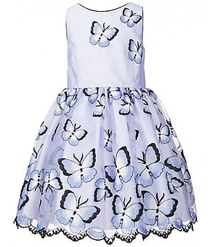 Pippa & Julie Little Girls 2T-6X Butterfly-Print A-Line Dress