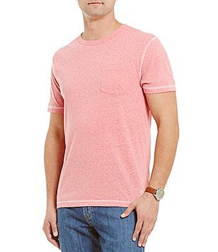 Cremieux Crewneck Snow Yarn Short-Sleeve Pocket Tee