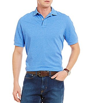 Cremieux Siro Melange Pique Short-Sleeve Polo Shirt