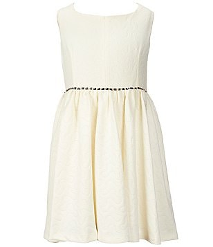 Pippa & Julie Big Girls 7-16 Jewel-Waist Skater Dress