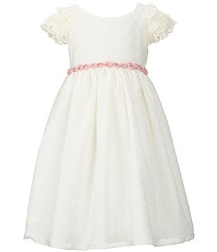 Laura Ashley London Little Girls 2T-6X Ruffle-Sleeve Dress