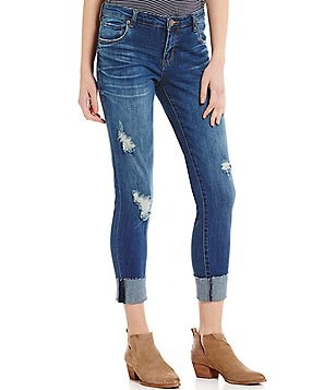 STS Blue Taylor Tomboy Destructed Cuffed Stretch Boyfriend Jeans
