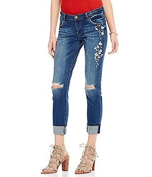 STS Blue Taylor Tomboy Embroidered Destruction Boyfriend Jeans