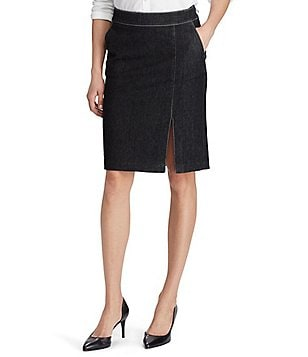 Lauren Ralph Lauren Stretch Denim Pencil Skirt