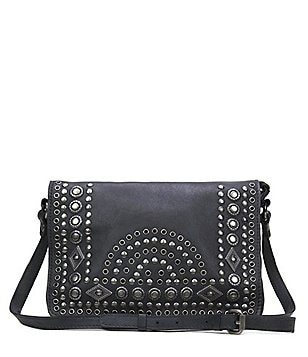 Patricia Nash Burnished Boho Studded Collection Preselle Flap Cross-Body Bag
