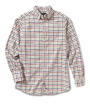 Cremieux Big & Tall Graph Washed Oxford Long-Sleeve Woven Shirt