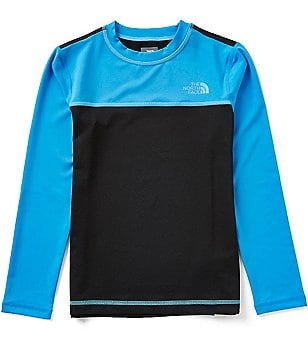 The North Face Big Boys 8-20 Hike/Water Color Block Long-Sleeve Tee