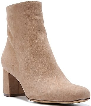 Naturalizer Westing Suede Block Heel Booties