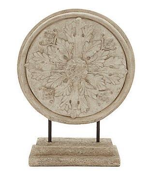 Southern Living Leaf Medallion Ash Statue