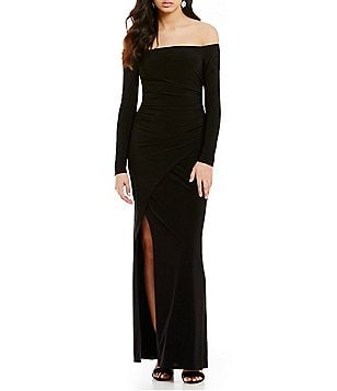 Laundry by Shelli Segal Off-the-Shoulder Matte Jersey Gown