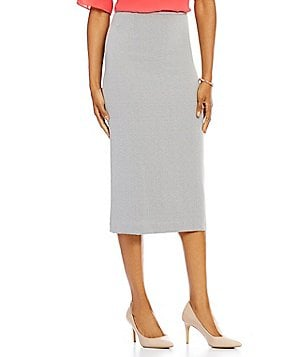 Preston & York Taylor Textured Stretch Crepe Pencil Skirt