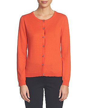 CeCe Long Sleeve Button-front Cardigan