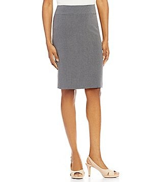 Alex Marie Crissy Bi-Stretch Double Vent Pencil Skirt