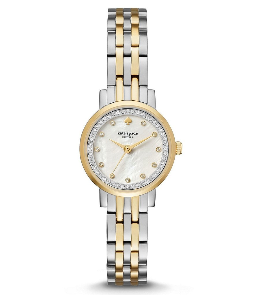 kate spade new york Mini Monterey Two-Tone Analog Bracelet Watch
