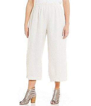 Bryn Walker Plus Casbah Pull-On Linen Ankle Pants