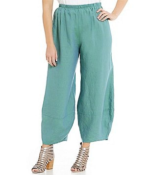 Bryn Walker Plus Oliver Pull-On Flat Front Wide Leg Pants