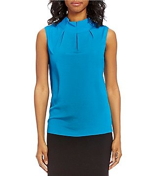 Alex Marie Rosie Mockneck Sleeveless Blouse