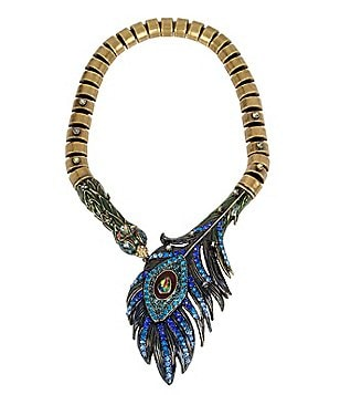 Betsey Johnson Peacock Statement Necklace