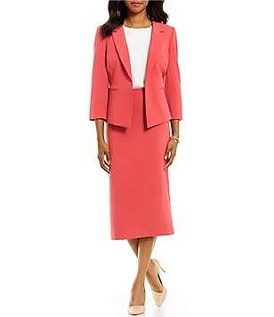 Preston & York Deanna Stretch Crepe Suiting Jacket & Taylor Pencil Skirt