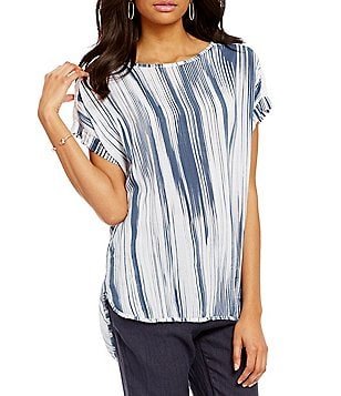 M Made in Italy Printed Cap Sleeve Tunic