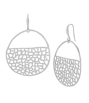 Robert Lee Morris Soho Geometric Cutout Hoop Earrings
