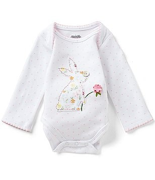 Mud Pie Baby Girls Newborn-6 Months Dotted Easter Bunny Tutu-Back Bodysuit