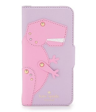 kate spade new york Posable Dinosaur-Appliquéd Folio iPhone 7 Case