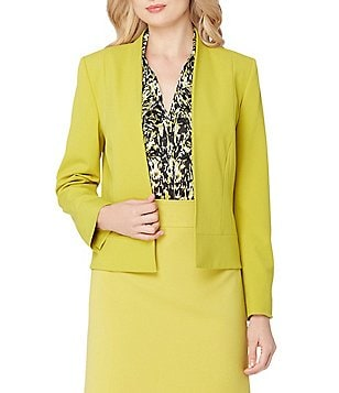 Tahari ASL Petite Open-Front Bi-Stretch Jacket