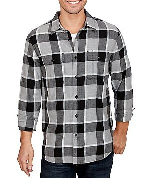Lucky Brand Miter 2 Pocket Plaid Flannel Workwear Shirt