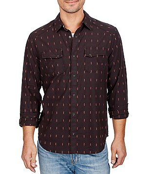 Lucky Brand Martin Long-Sleeve Printed Snap-Front Western Shirt