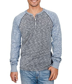 Lucky Brand Grey Label Long-Sleeve Color Block Knit Henley