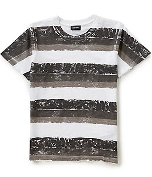 Diesel Big Boys 8-16 Taolt Horizontal-Stripe Short-Sleeve Tee