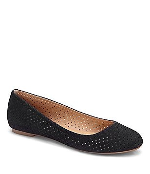 Lucky Brand Everlee Perforated Nubuck Leather Slip-On Ballet Flats
