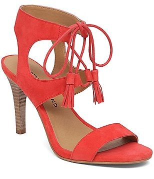 Lucky Brand Uzelia Suede Lace-up Tassel Dress Sandals