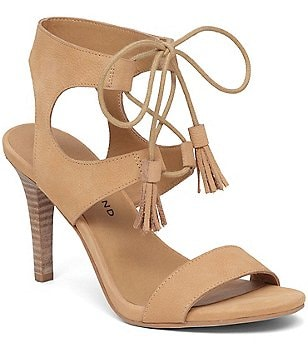 Lucky Brand Uzelia Leather Banded Lace-Up Sandals