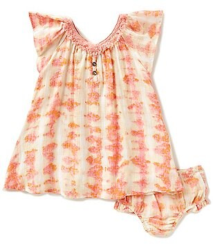 Jessica Simpson Baby Girls 12-24 Months Printed Crepe Dress