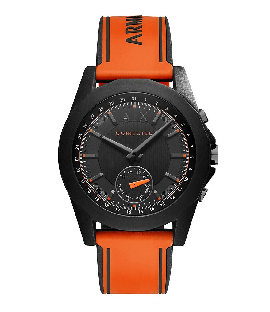 AX Armani Exchange Connected Hybrid Silicone-Strap Smart Watch