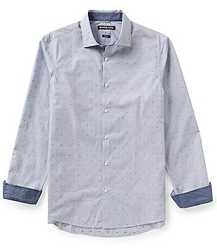 Michael Kors Carlyle Dobby Slim-Fit Long-Sleeve Woven Shirt