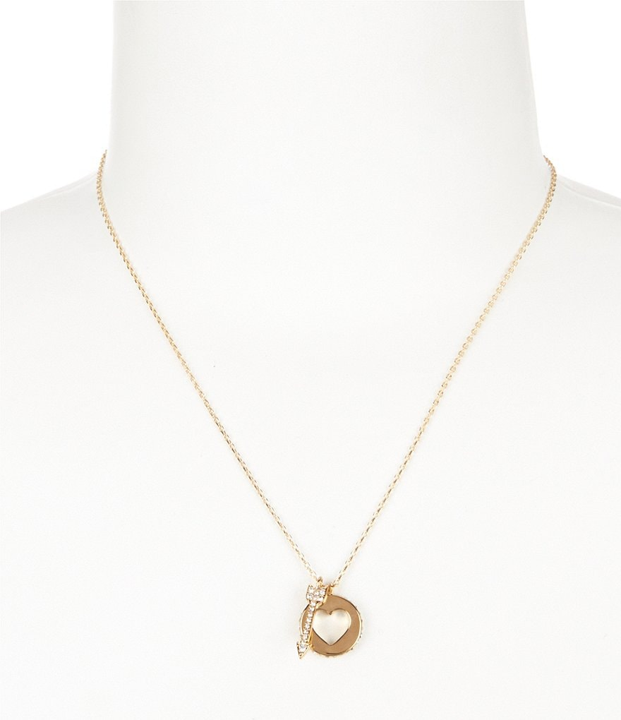 kate spade new york Be Mine Heart & Arrow Cluster Pendant Necklace
