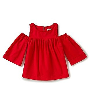 GB Girls Big Girls 7-16 Cold-Shoulder 3/4-Sleeve Blouse