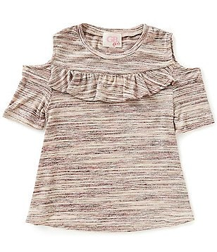 GB Girls Big Girls 7-16 Ruffled Cold-Shoulder Top