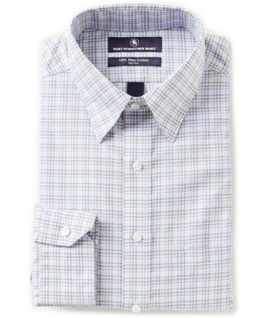 Hart schaffner marx non iron fitted classic fit hidden for Hidden button down collar shirts