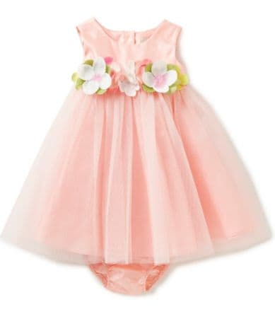 Rare Editions Baby Girls 3 24 Months Flower Appliqued