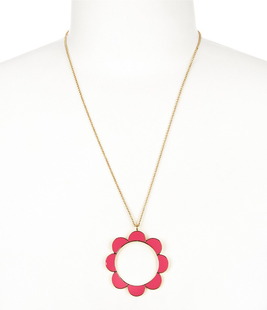 kate spade new york Taking Shapes Scalloped Pendant Necklace