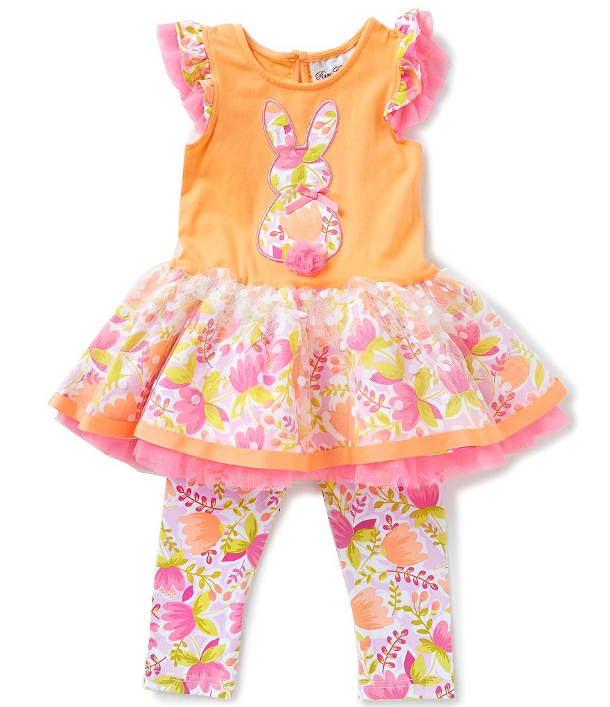 Rare Editions Baby Girls 3 24 Months Easter Bunny Appliqué