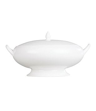 Wedgwood White Bone China Covered Vegetable Bowl